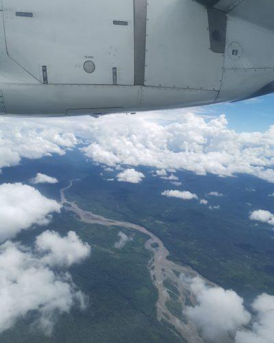 Flight to Coca (above the rainforest)